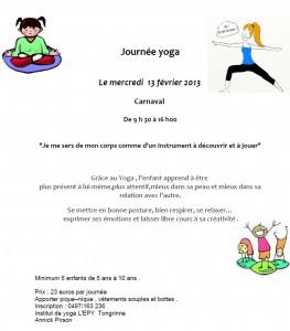 journée yoga enfant le 13 février 2013